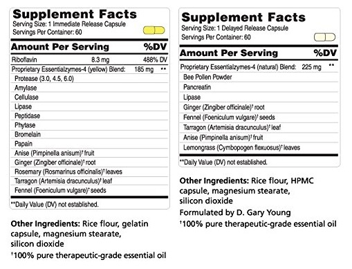 Essentialzyme-4 Young Living Ingredients